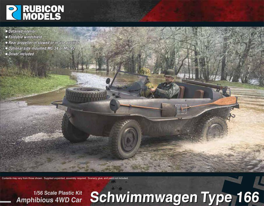 Rubicon Models 28mm Schwimmwagen Type 166 Amphibious 4WD Car # 280080