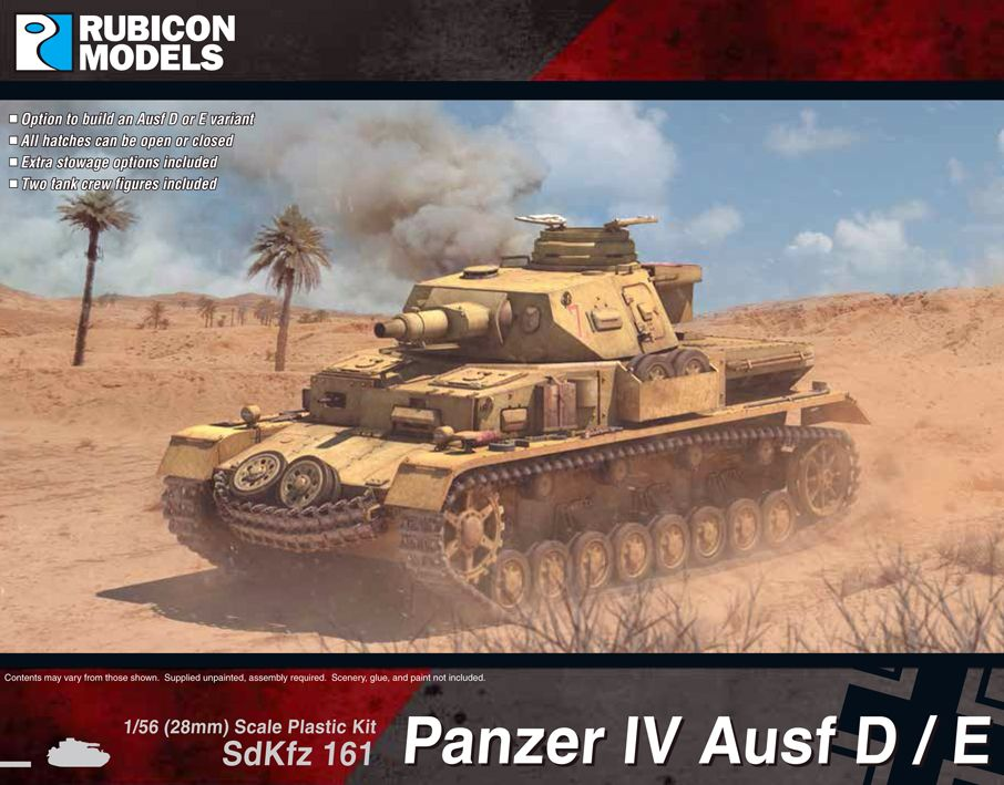 Rubicon Models 28mm Sd.Kfz. 161 Panzer IV Ausf D/E # 280076