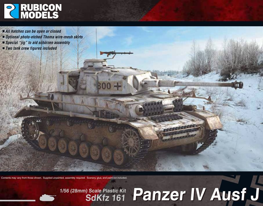 Rubicon Models 28mm Sd.Kfz. 161 Panzer IV Ausf J # 280078