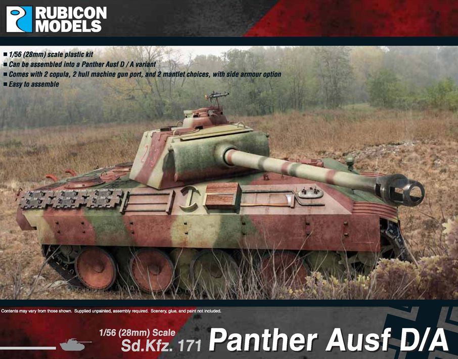 Rubicon Models 28mm Sd.Kfz. 171 Panther Ausf D/A # 280014