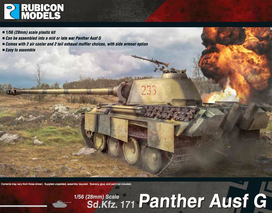 Rubicon Models 28mm Sd.Kfz. 171 Panther Ausf G # 280015