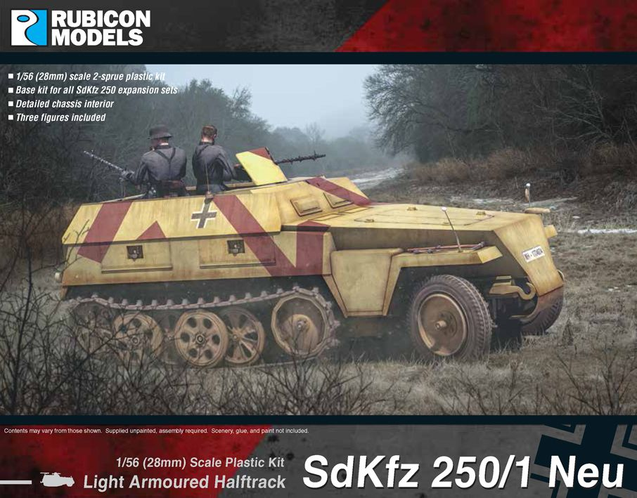 Rubicon Models 28mm Sd.Kfz. 250/1 Neu Light Armoured Half-Track # 280038
