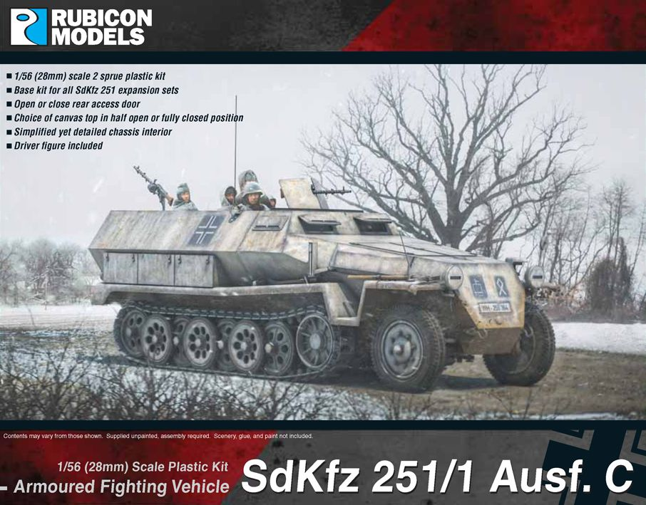 Rubicon Models 28mm Sd.Kfz. 251/1 Ausf. C Armoured Fighting Vehicle # 280031