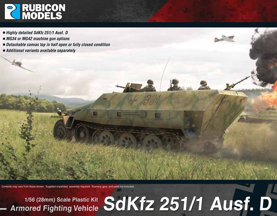 Rubicon Models 28mm Sd.Kfz. 251/1 Ausf. D Armored Fighting Vehicle # 280018