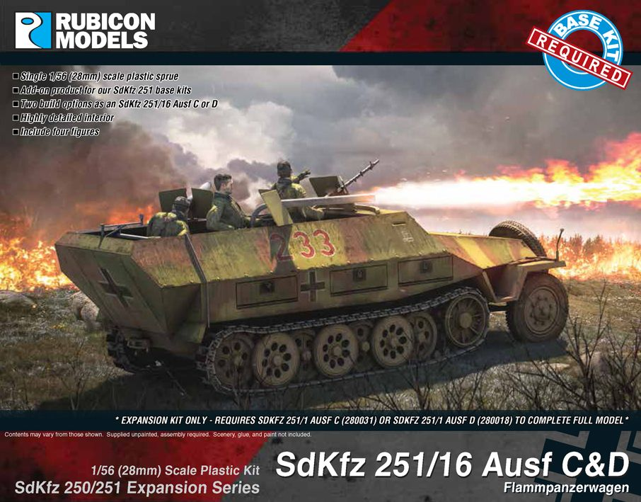 Rubicon Models 28mm Sd.Kfz. 251/16 Ausf C&D Flammpanzerwagen Expansion Set # 280040