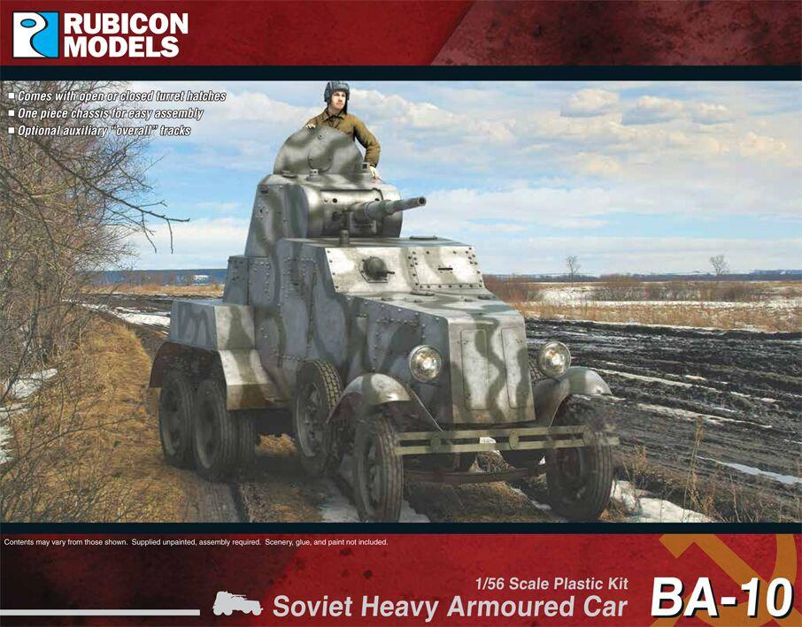 Rubicon Models 28mm Soviet BA-10 Heavy Armoured Car # 280085