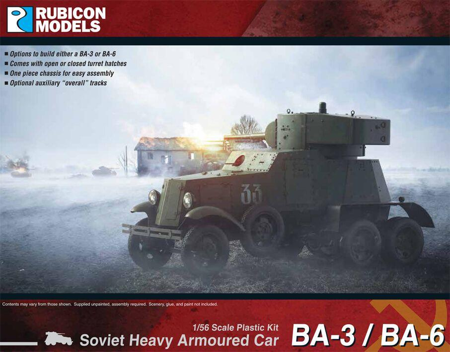 Rubicon Models 28mm Soviet BA-3/BA-6 Heavy Armoured Car # 280084
