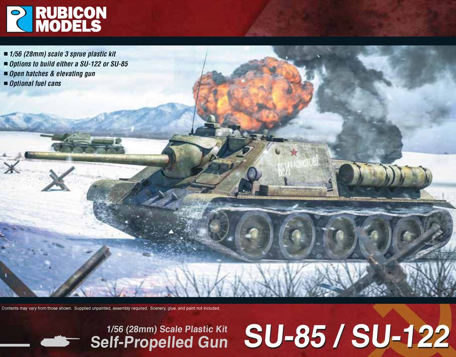 Rubicon Models 28mm SU-85/SU-122 Self-Propelled Gun # 280034