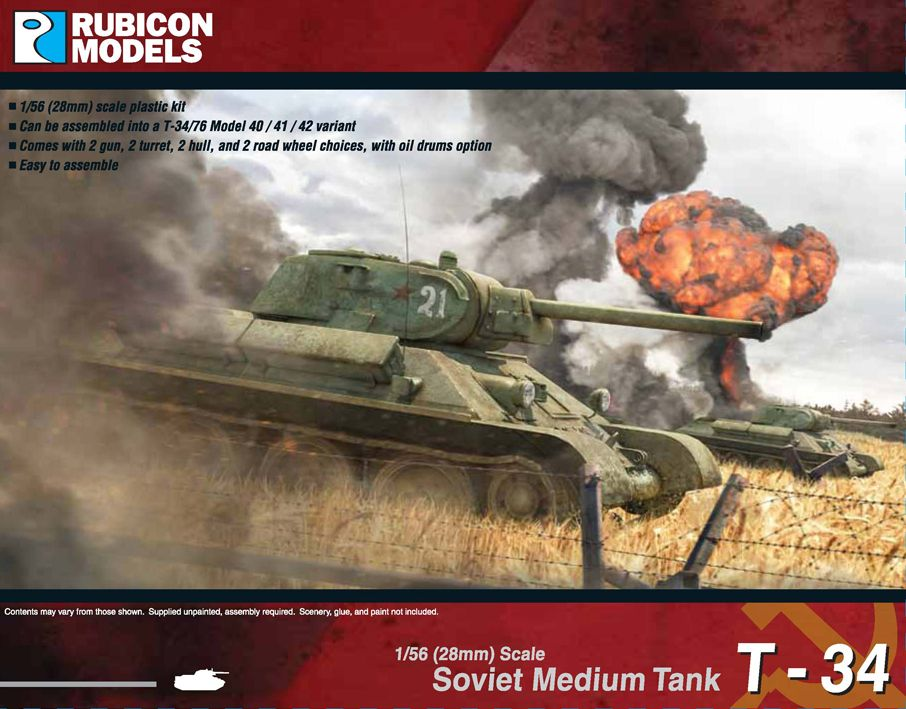 Rubicon Models 28mm T-34/76 Soviet Medium Tank # 280013