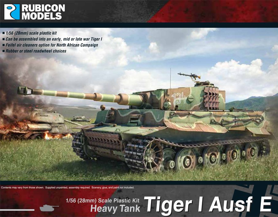 Rubicon Models 28mm Tiger I Ausf E Heavy Tank # 280016