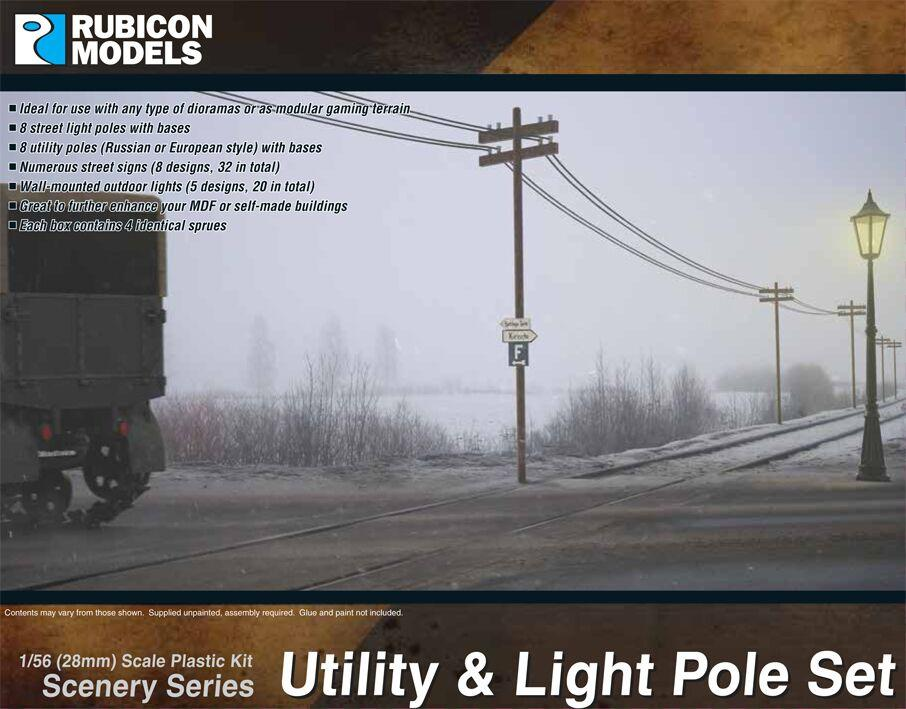 Rubicon Models 28mm Utility & Light Pole Set # 283004