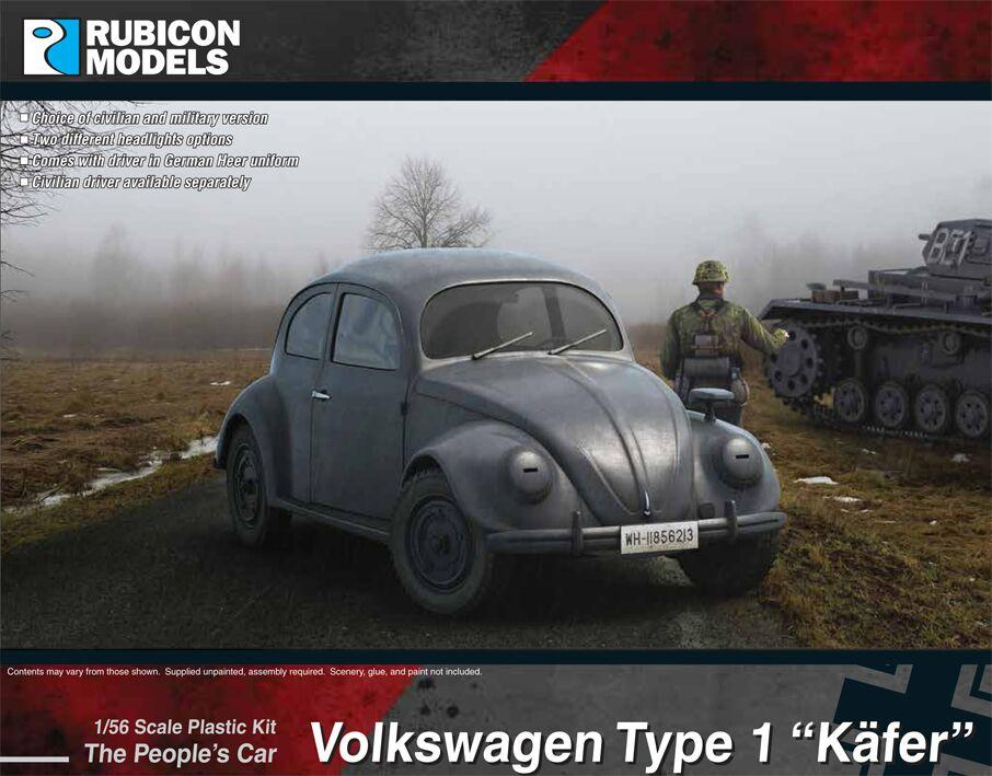 "Rubicon Models 28mm Volkswagen Type 1 ""Kafer"" The People's Car # 280081"