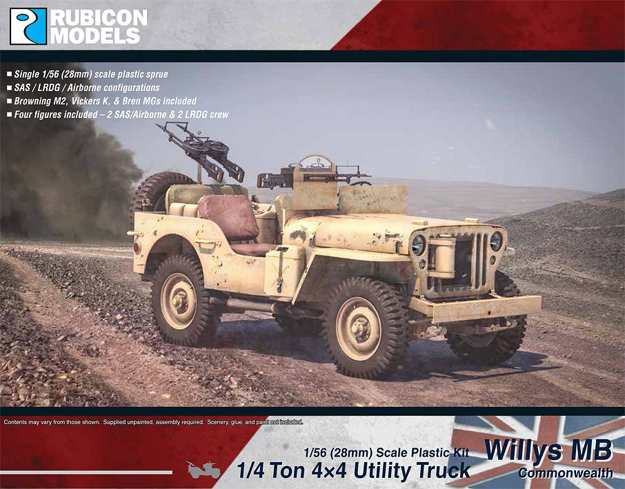 Rubicon Models 28mm Willy's MB Commonwealth 1/4 ton 4x4 Utility Truck # 280050