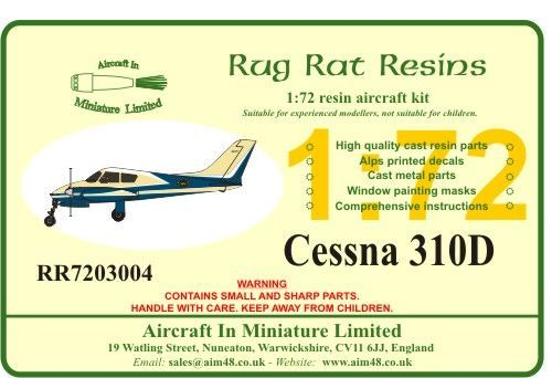 Rug Rat Resins 1/72 Cessna 310D # RR7203004