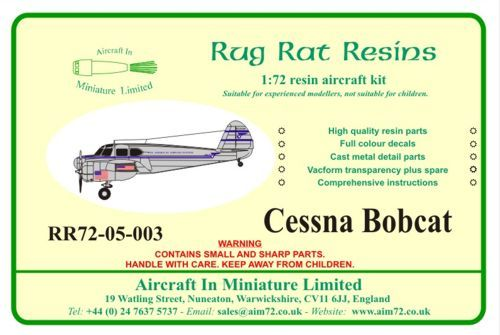 Rug Rat Resins 1/72 Cessna Bobcat/Crane # RR7205003