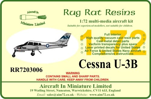 Rug Rat Resins 1/72 Cessna U-3B # RR7203006