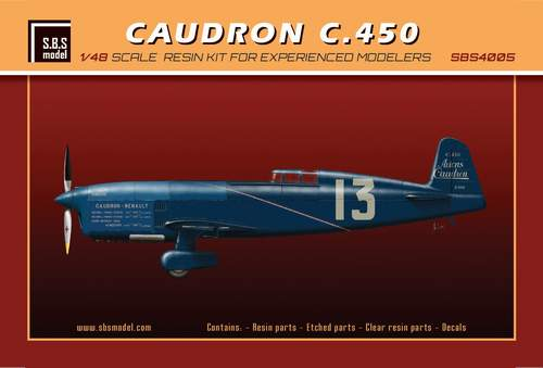 SBS Model 1/48 Caudron C.450 # 4005