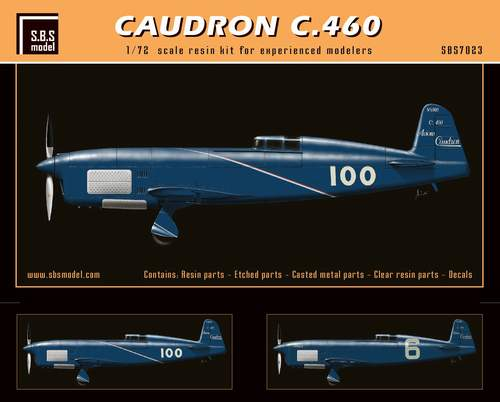 SBS Model 1/72 Caudron C.460 # 7023