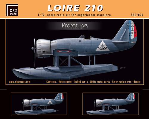 SBS Model 1/72 Loire 210 'Prototype' # 7024