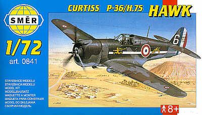 Smer 1/72 Curtiss P-36/H.75 Hawk # 0841