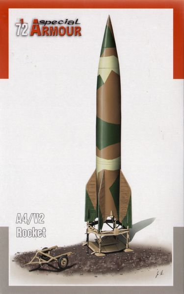 Special Armour 1/72 German A4/V-2 Rocket with Launch Platform # 72003