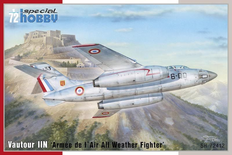 Special Hobby 1/72 SNCASO SO.4050 Vautour IIN 'Armée de l' Air All Weather Fighter' # 72412