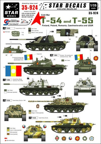 Star Decals 1/35 Cold War Soviet T-54 and T-55 # STAR35924