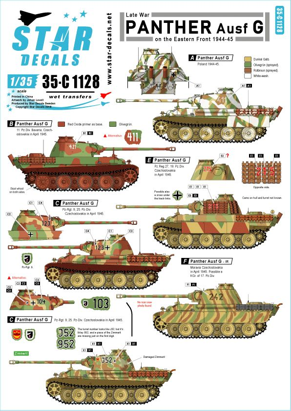 Star Decals 1/35 Eastern front 1944-45 # 35-C1128