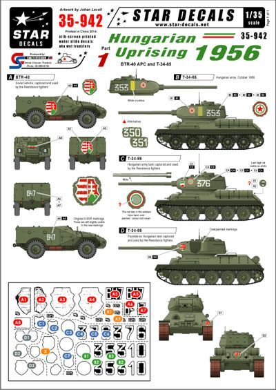 Star Decals 1/35 Hungarian Uprising 1956 #1. C # STAR35942