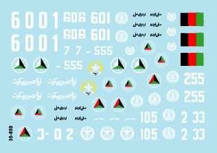 Star Decals 1/35 Northern Alliance/Taliban/Afghanistan National Army # STAR35859