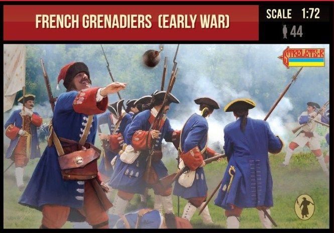 Strelets 1/72 French Grenadiers (Early War) # 235