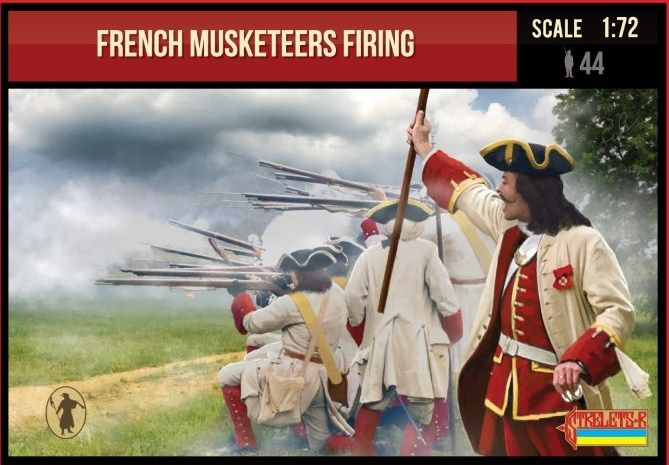 Strelets 1/72 French Musketeers Firing 1701-1714 # 234