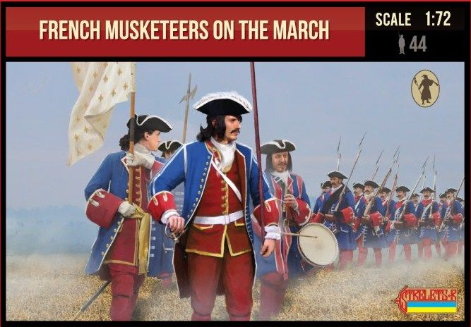 Strelets 1/72 French Musketeers on the March 1701-1714 # 233