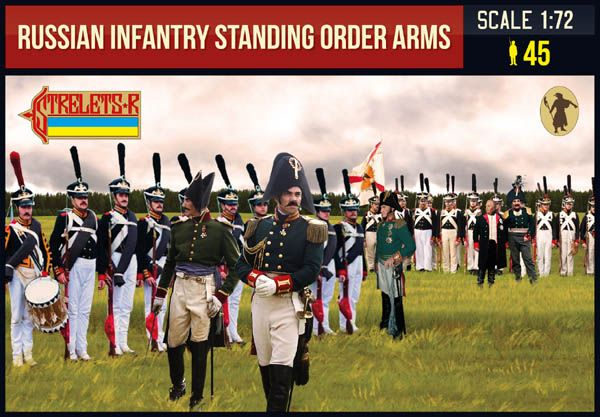 Strelets 1/72 Russian Infantry Standing Order Arms Napoleonic # 217