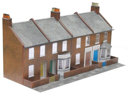 Superquick 1/72 Four Redbrick Terrace Fronts (C6) # 99056