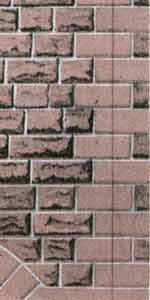 Superquick 1/72 Red Sandstone Ashlar Walling Paper (D9) # 99079