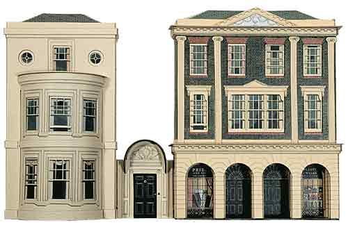 Superquick 1/72 Regency Period Shops & House (C4) # 99053