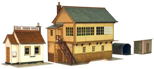 Superquick 1/72 Signal Box, Coal Order Office & Lineside Huts (A6) # 99005