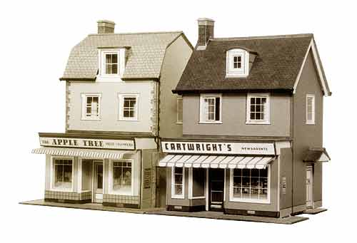 Superquick 1/72 Two Country Town Shops (B22) # 99022