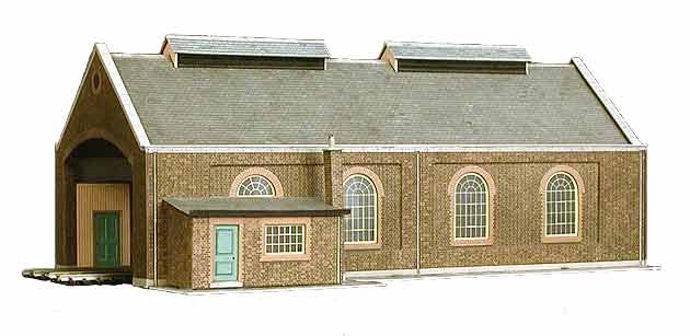 Superquick 1/72 Two Road Locomotive Shed  (A5) # 99004