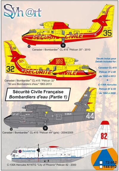 Syhart 1/144 Securite Civile Francaise (Part 1) CL-415 + Lockheed C-130A Hercules # 144912