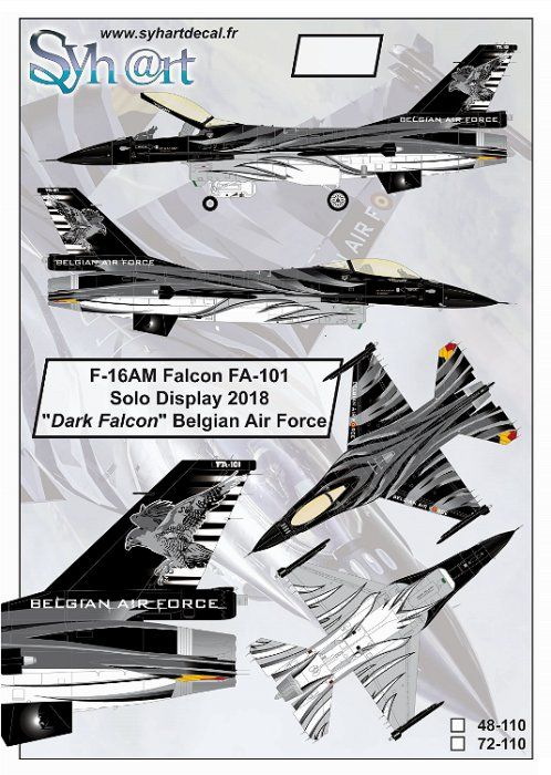 Syhart 1/72 General-Dynamics F-16AM Falcon FA-101 # 72110