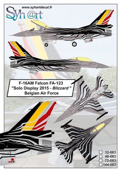 Syhart 1/72 General-Dynamics F-16AM Falcon FA-123 # 72083