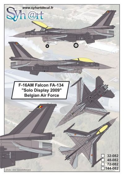 Syhart 1/72 General-Dynamics F-16AM Falcon FA-134 # 72082