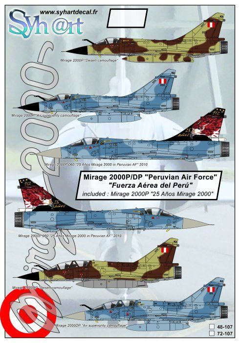 "Syhart 1/72 Mirage 2000P/DP ""Peruvian Air Force"" # 72107"