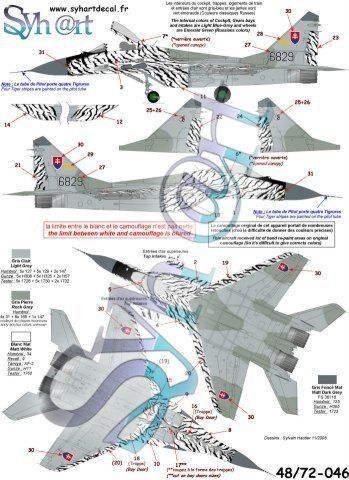 "Syhart 1/72 Re-printed! Mikoyan MiG-29A 'Fulcrum' 6829 ""Slovak Tiger 2002""  # 72046"
