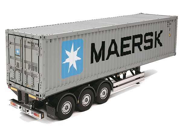 Tamiya 1/14 40 Foot Container And Semi Trailer # 56326