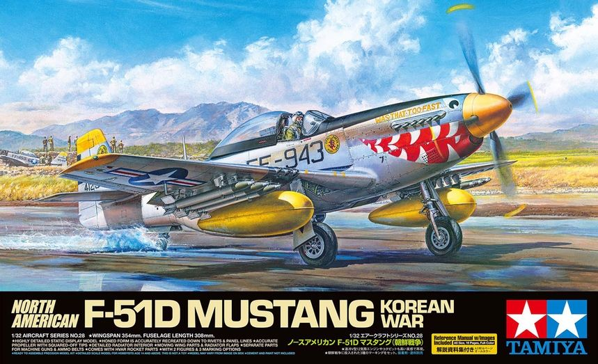 Tamiya 1/32 North-American F-51D Mustang 'Korean War' # 60328