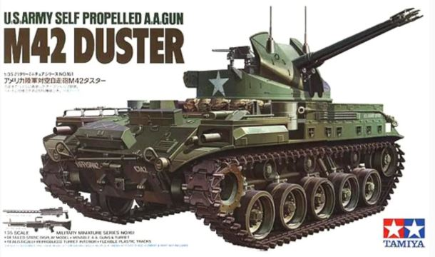 Tamiya 1/35 M42 Duster U.S. Self-Propelled A.A. Gun with 3 Figures # 35161