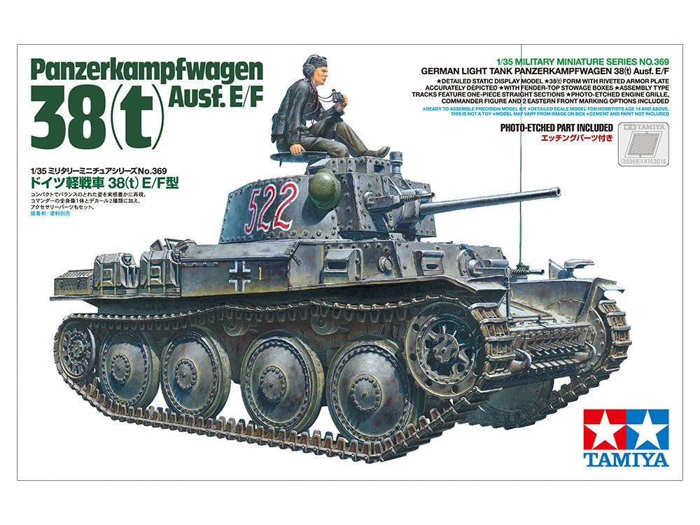 Tamiya 1/35 Panzerkampwagen 38(t) Ausf. E/F German Light Tank # 35369